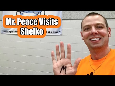 Mr. Peace Visits Sheiko Elementary School in West Bloomfield Twp, Michigan