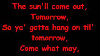 Annie Jr - Tomorrow Reprise with Lyrics