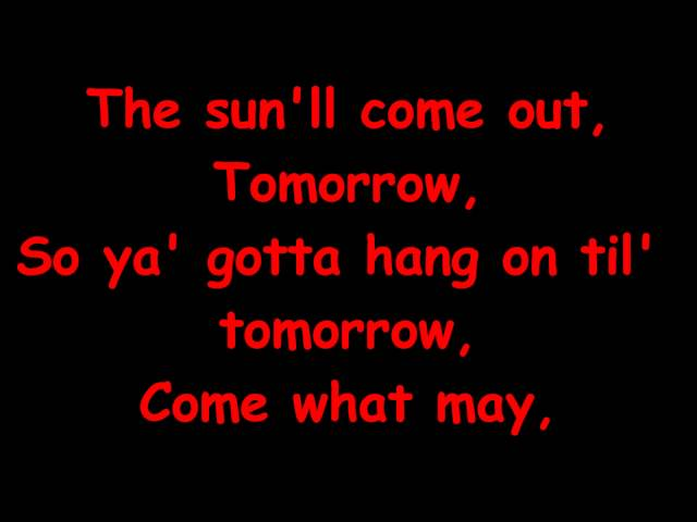 Annie Jr - Tomorrow Reprise with Lyrics - YouTube