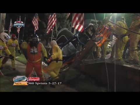 Alan Zoutte Crashes Over Turn One