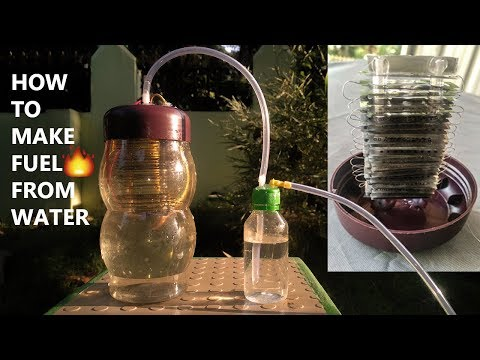 HOW TO MAKE A MINI HYDROGEN GENERATOR / HYDROGEN FROM WATER