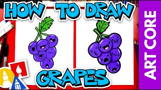 Art Core: Overlapping - How To Draw Funny Grapes  - #stayhome and draw #withme