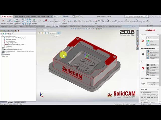 SolidCAM 2018 – 3D Modell Schutz