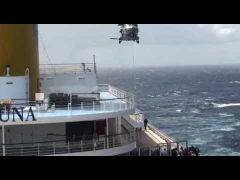 2013 Helicopter France Marine Rescue Travel at  Sea Bay of Biscay