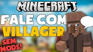COMO FAZER VILLAGERS FALAREM - Tutorial Minecraft