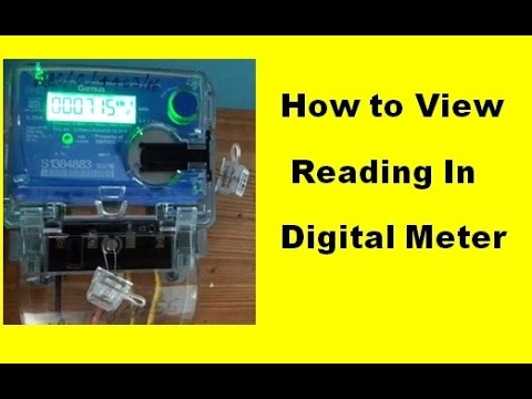 How to view Present Reading in New Digital Meter of Electricity Board !!  Any State & Any Company