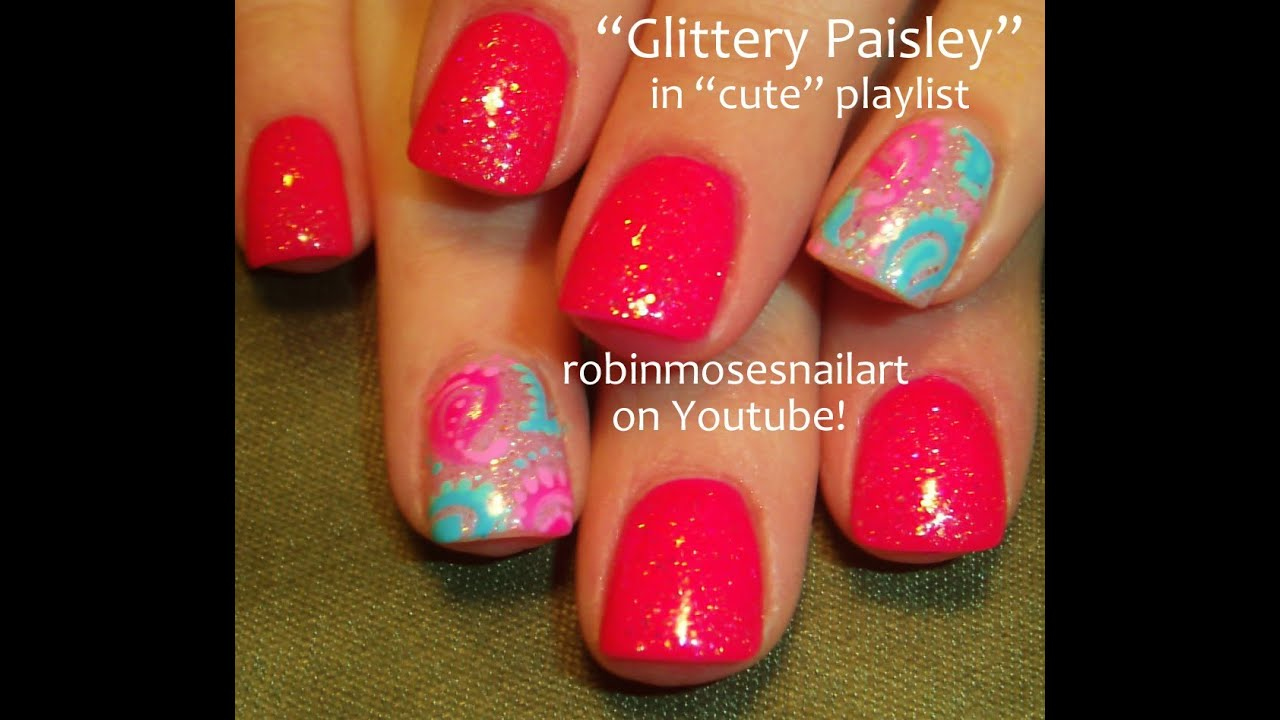 Easy Paisley Nail Design For Beginners With