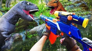 Nerf War: Jurassic Park Battle