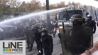 Incidents manifestation contre les violences policières / Nantes (44) - France 22 novembre 2014