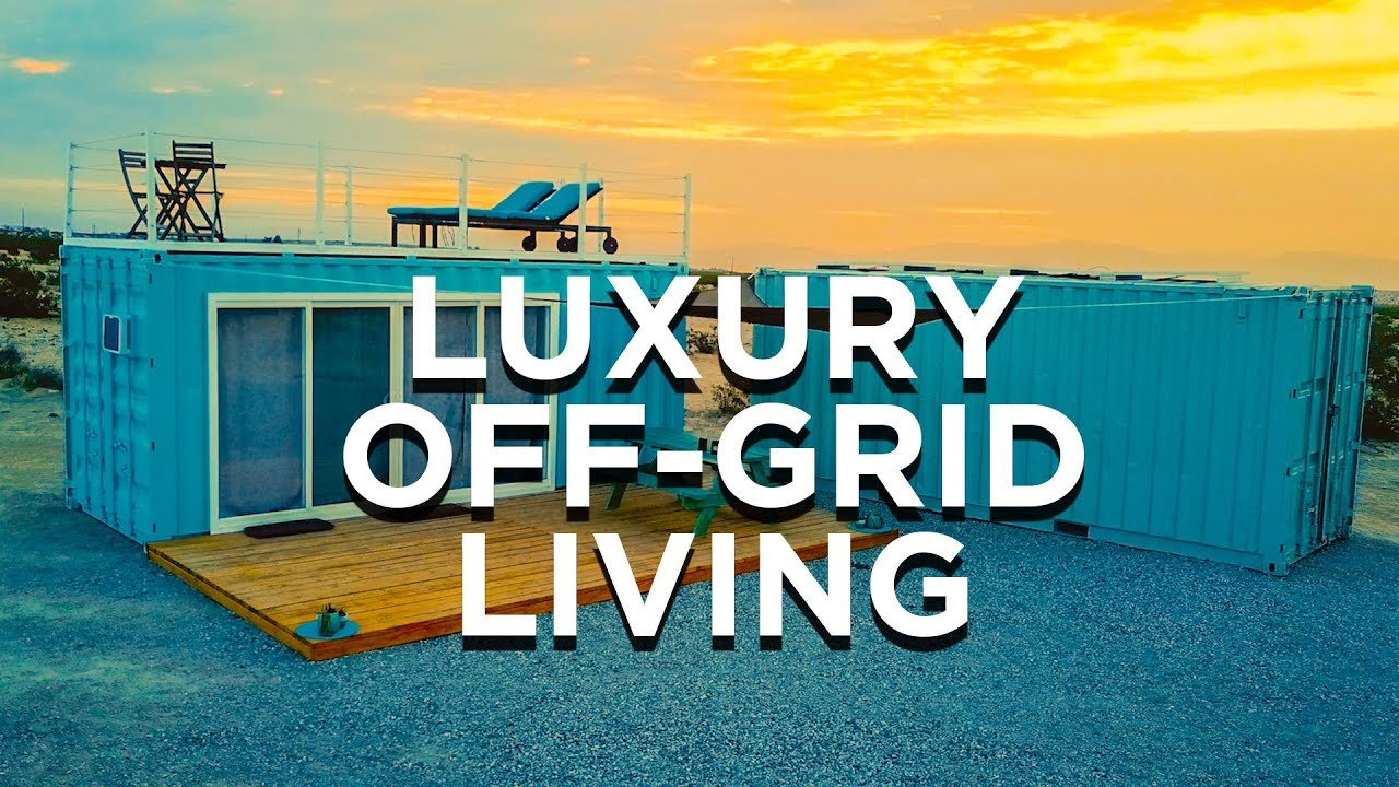 Custom Off Grid Container Tiny House Airbnb Youtube