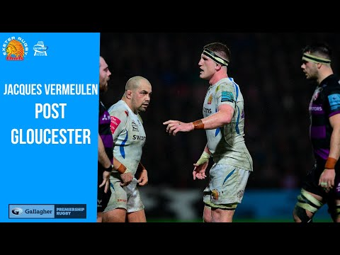 Jacques Vermeulen post Gloucester