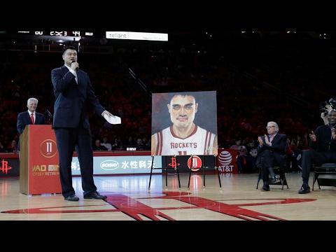 Yao Ming Houston Rockets Jersey Retirement  Full Ceremony