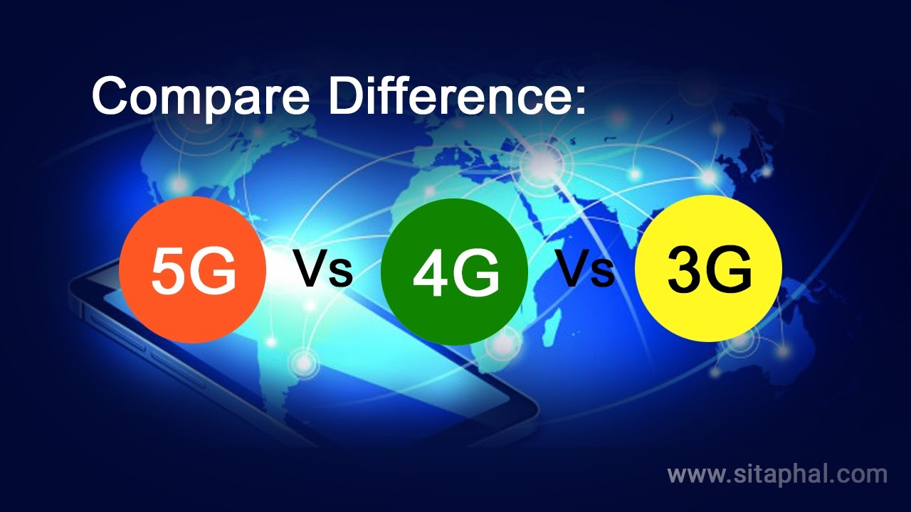 Compare: 5G vs 4G Vs 3G Network | Speed | Technology | Architecture