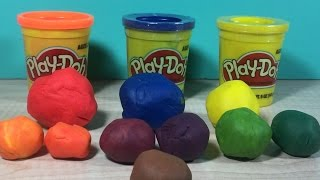 How to make the Color GREEN with Play Doh by Granny B.