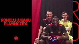 Romelu Lukaku suffers when playing FIFA game :-)