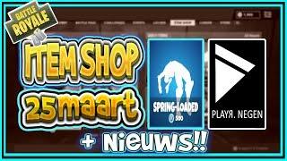FORTNITE NIEUWS | ITEM SHOP 25 maart | VLOER is LAVA LTM, Fortnite en APPLE ??? | PLAYR NEGEN