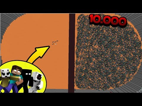 10.000 Noobs Mutantes VS Entity_303 & Herobrine & Null & Lick & Slenderman [Titan Jefe Final]
