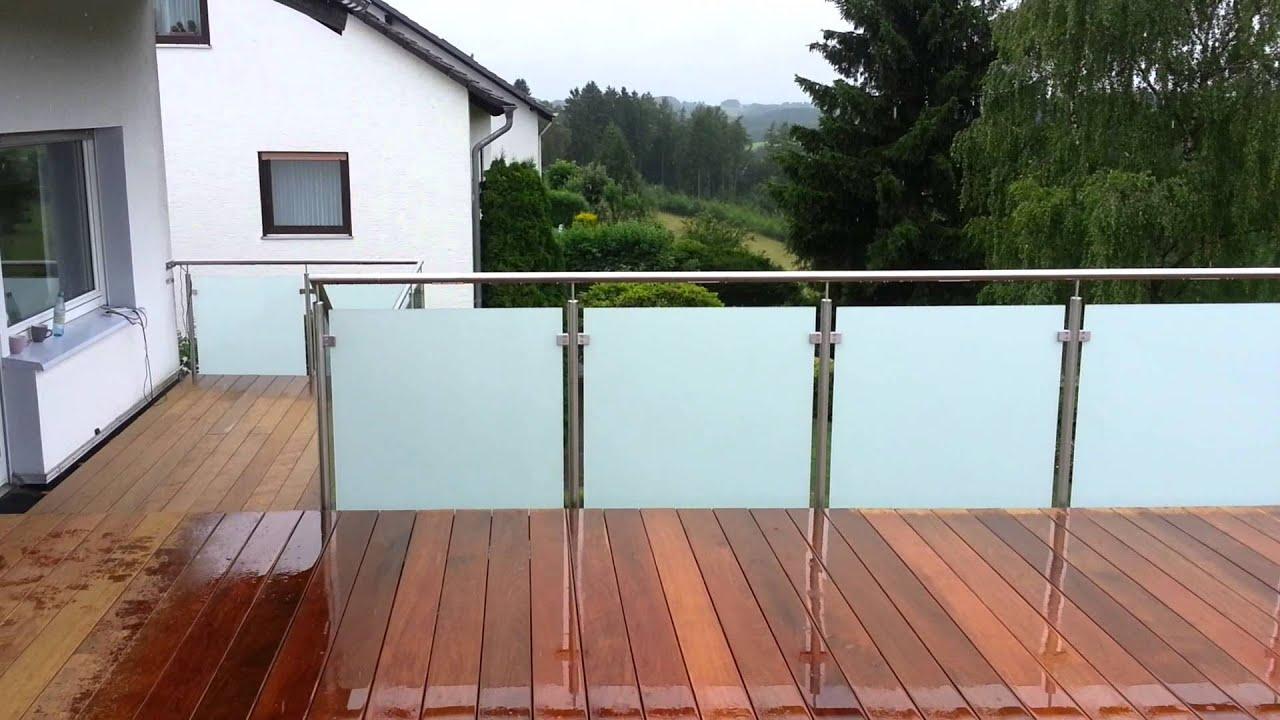 Terrassengeländer aus Edelstahl mit 2 Arten Verglasung von der ...