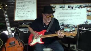 Robert Dean Blues guitar hammer-on & pull-offs