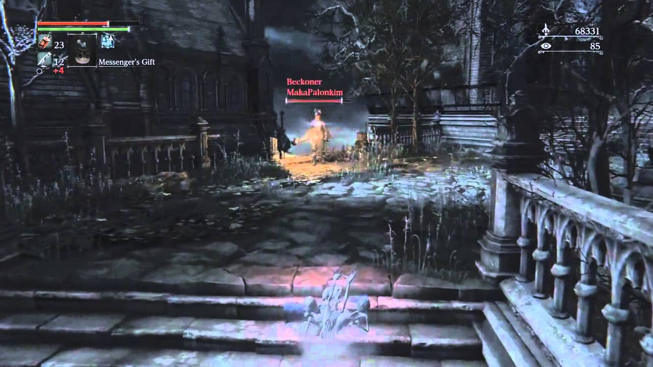 Bloodborne - trolling with messenger's gift - YouTube