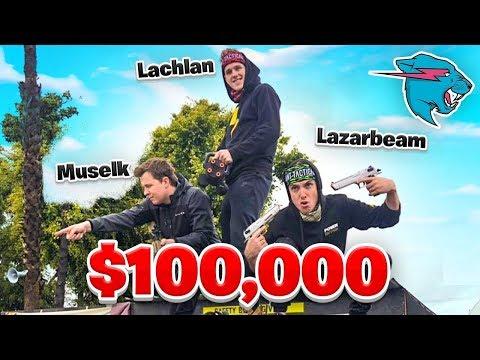 Lachy, Lazarbeam & Muselk Play Mr Beast $100,000 Battle Royale!