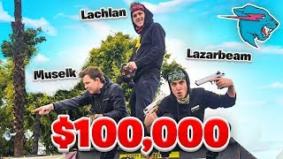 Lachy, Lazarbeam & Muselk Play Mr Beast $100,000 Battle Royale!