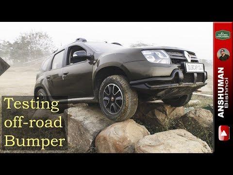 Renault Duster AWD: Testing Custom Off-road bumper