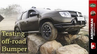 Renault Duster AWD: Testing Custom Off-road bumper