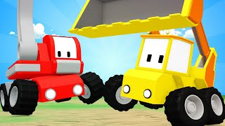 Tiny Trucks - Flour for Billy - Kids Animation with Street Vehicles Bulldozer, Excavator & Crane