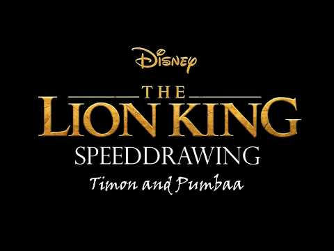Disney Speeddrawing - The Lion King - Timon and Pumbaa
