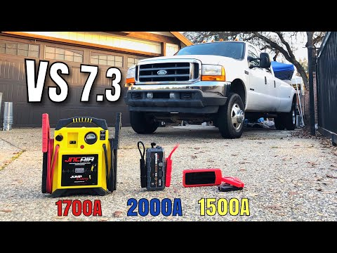 2001-f350-7.3-diesel--vs--3-battery-jumpers,-can-any-jump-start-it??-noco,-audew,-jnc-air