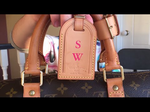 1da90a5de2be Louis Vuitton Fuchsia Hot Stamping - Luggage Tag Keepall 50 - YouTube