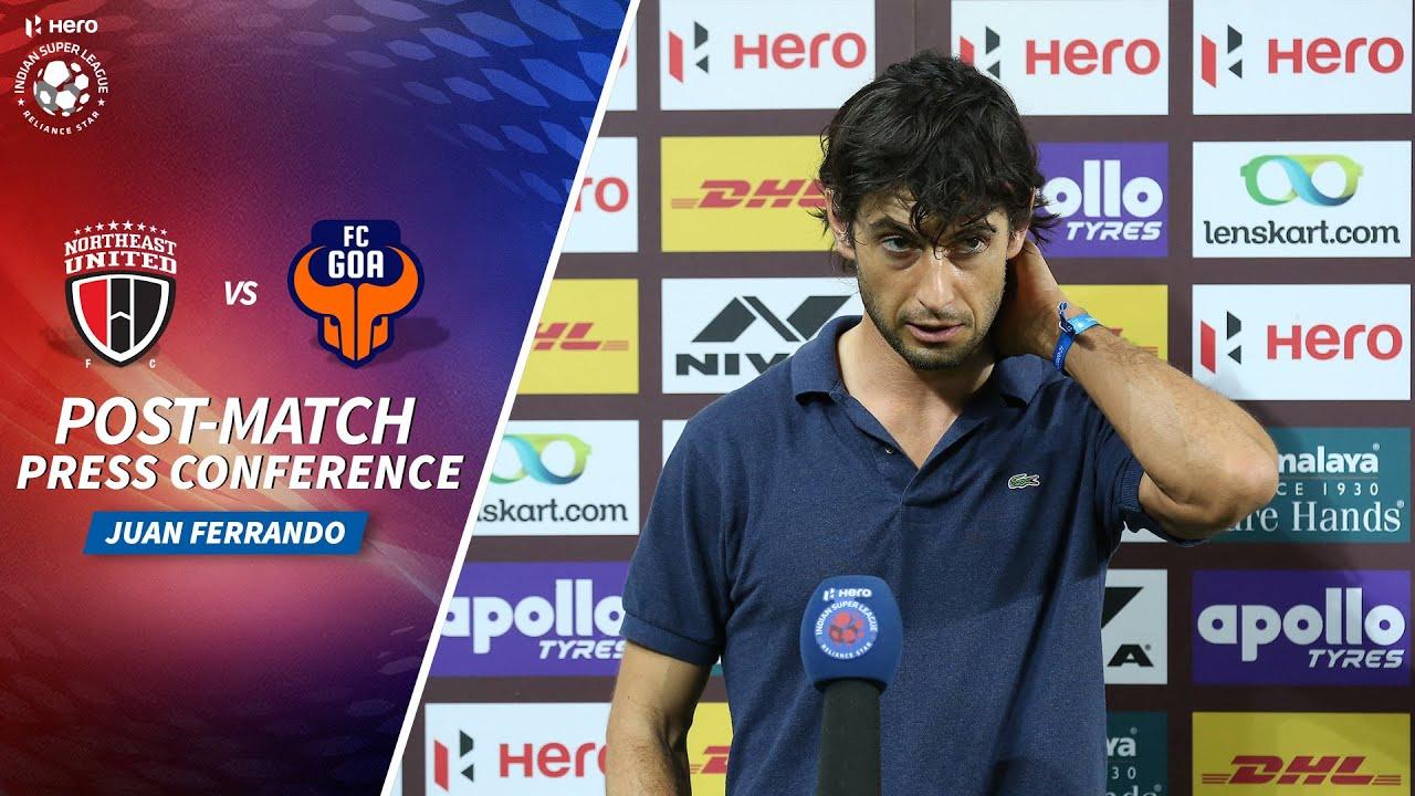 Download Juan Ferrando - NEUFC vs FCG - Post-match PC   Hero ISL 2020-21