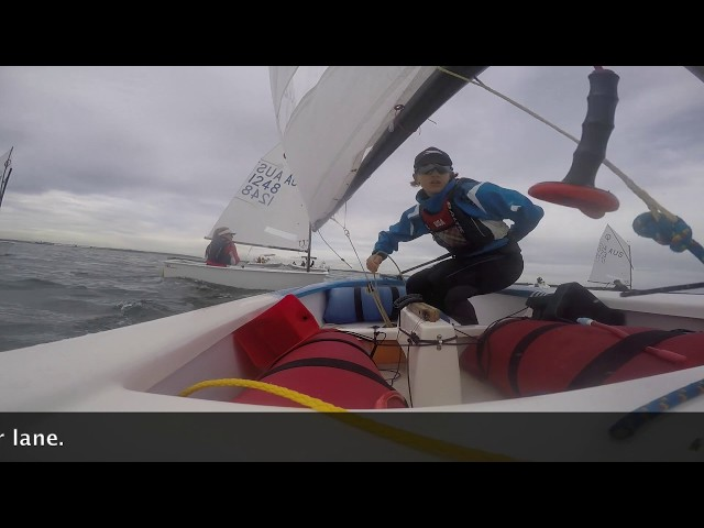 Optimist Sailing - Double Tacking into a Clear Lane