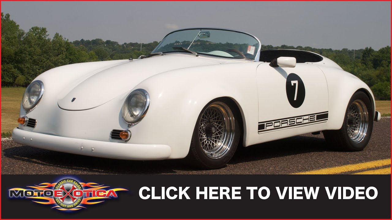 1976 Volkwagen Porsche 356 Speedster Replica Sold Youtube