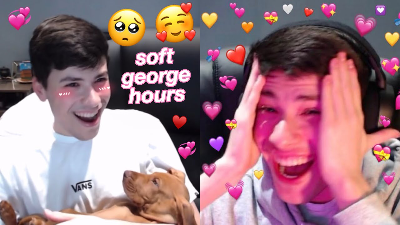 georgenotfound shows his new dog on stream (SOOO ADORABLE 🥺💞)