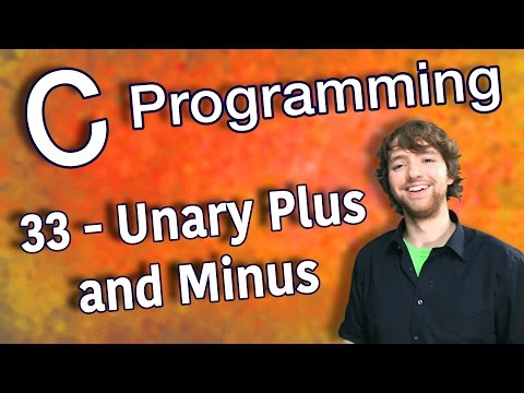 C Programming Tutorial 33 - Unary Plus and Minus