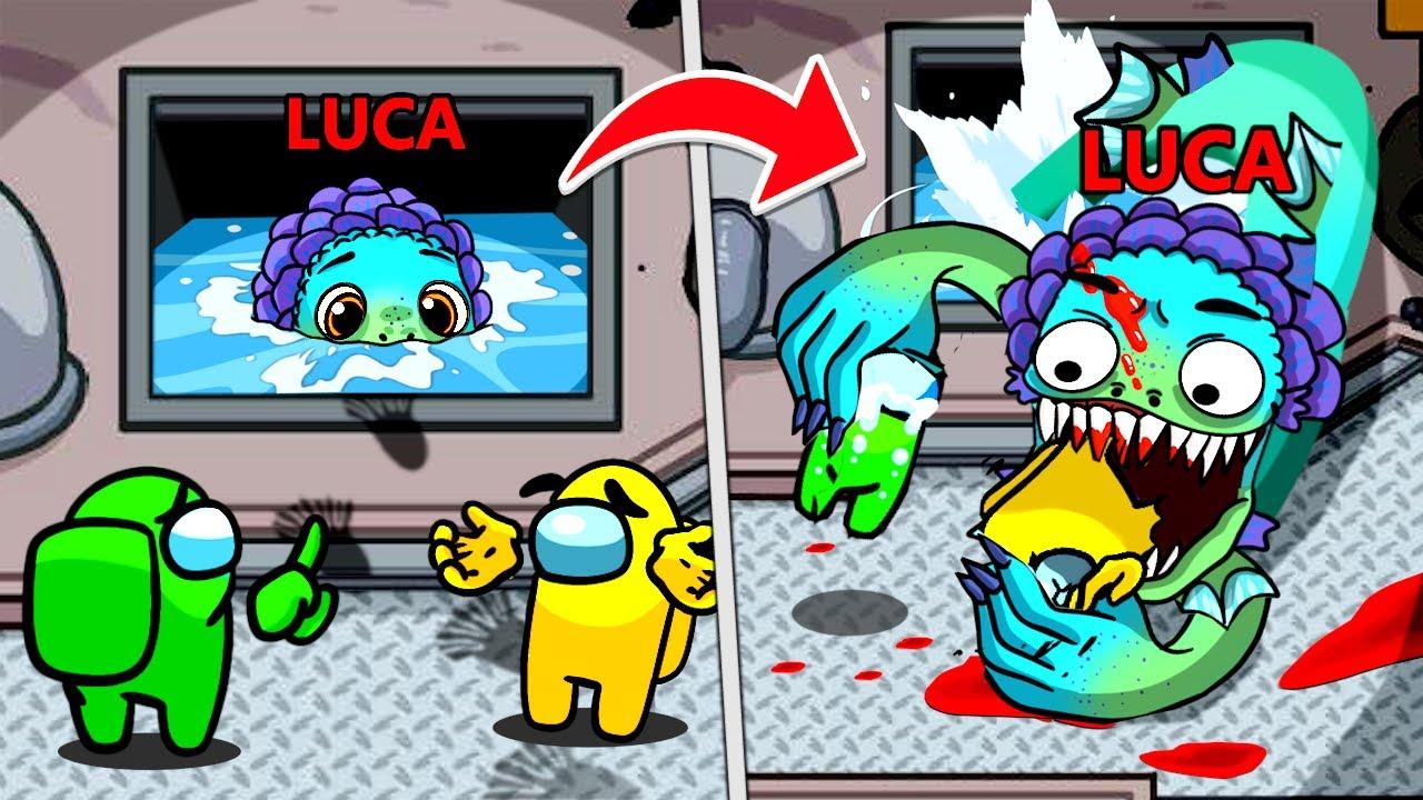 Don't Go Near IMPOSTER LUCA SECRET Lair... In Among Us