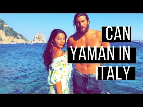 Can Yaman Enjoying Holiday In Italy