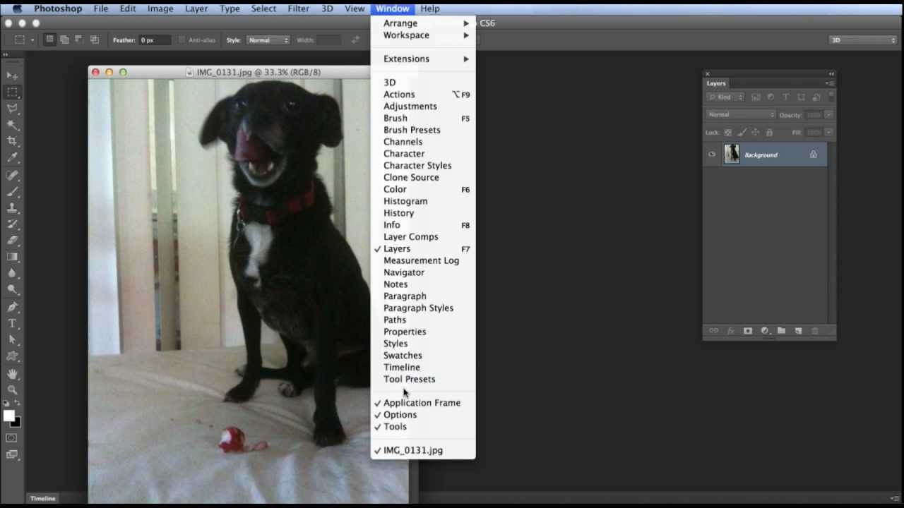 Photoshop Tip - Hide the Window Frame on a Mac (Application ...