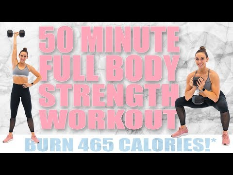 50 MINUTE FULL BODY STRENGTH WORKOUT! 🔥BURN 465 CALORIES!*🔥 with Sydney Cummings