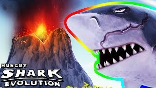 MEGALODON IN THE VOLCANO (HUNGRY SHARK EVOLUTION)