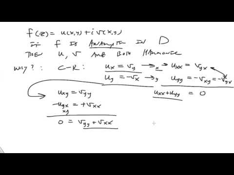Harmonic functions and analytic functions