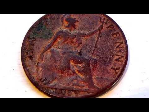 A 1902 & 1959 Big Half Penny