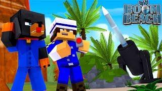 Minecraft Boom Beach - GENERAL JACK & COLONEL BABY MAX BOMB DONUT
