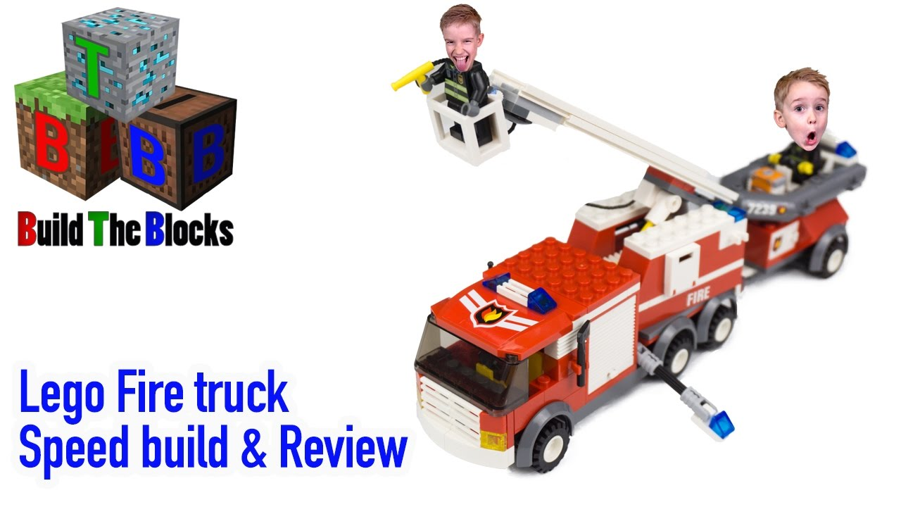 Lego City 7239 Fire Truck Lego Speed Build Review Youtube