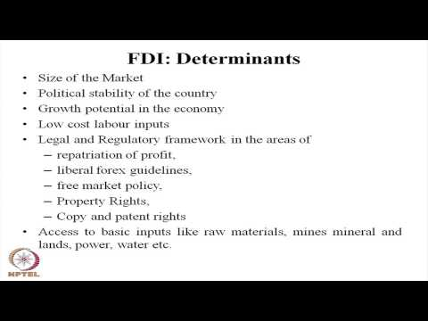 Mod-01 Lec-25 Evaluation of Foreign Direct Investment
