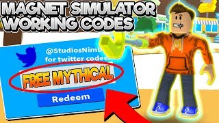 ALL *WORKING* CODES in MAGNET SIMULATOR! (Roblox 2019 Codes)
