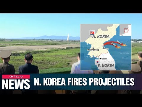 N. Korea fires multiple short-range projectiles off eastern coast