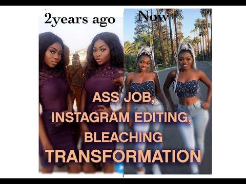 Ass job,Instagram editing, bleaching,Transformation